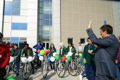 Öğrenciler sağlık için pedalladı
