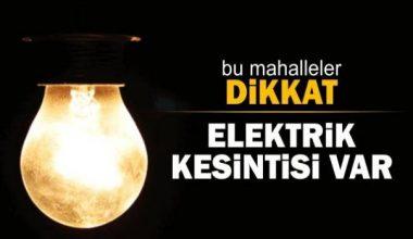Çankırı genelinde elektrik kesintisi var
