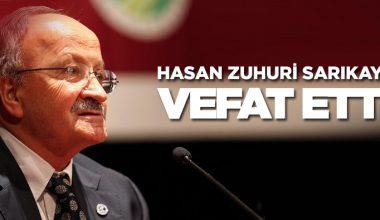 Prof. Hasan Zuhuri Sarıkaya Vefat Etti