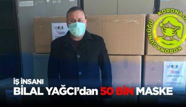 İş insanı Bilal YAĞCI'dan 100 Bin maske