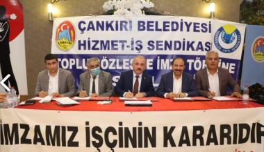 Çankırı Belediyesi'nde Toplu İş Sözleşmesi Sevinci